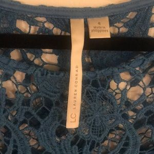 LC Lauren Conrad Dresses - Lauren Conrad Blue Lace Dress